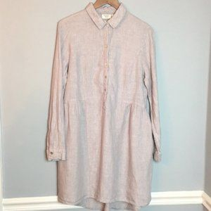 Beach Cove linen gray shirt dress Medium
